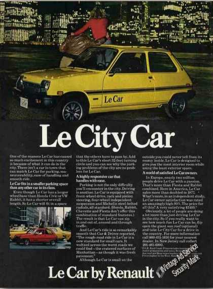 "Renault ""Le City Car"" Nightime City Lights (1978)"
