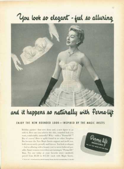 Perma Lift 'rounded Look' Magic Inset Bra (1955)