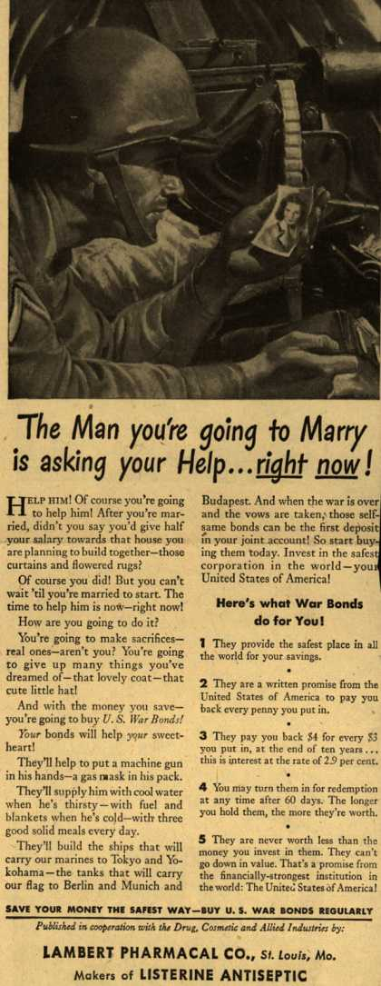 U. S. Government's War Bonds – The Man you're going to Marry is asking your Help... right now (1943)