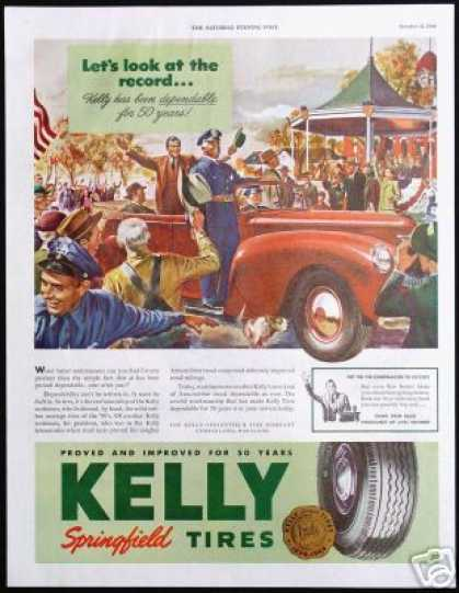 Parade Vintage Art 50th Year Kelly Tire (1944)