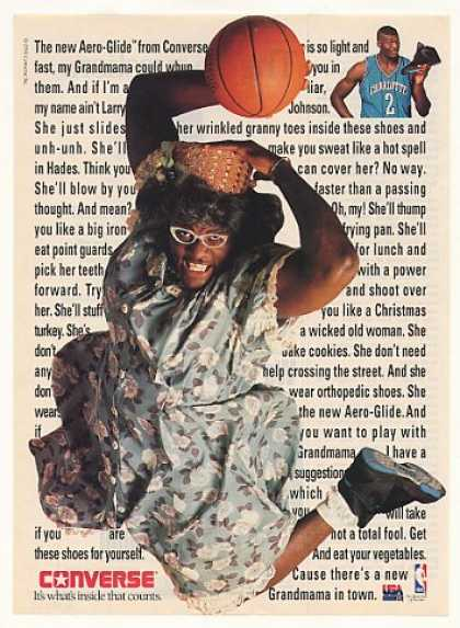 Larry Johnson Converse Aero-Glide Shoes Photo (1992)