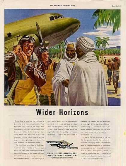 "Bendix Aviation Ad ""Wider Horizons... (1944)"