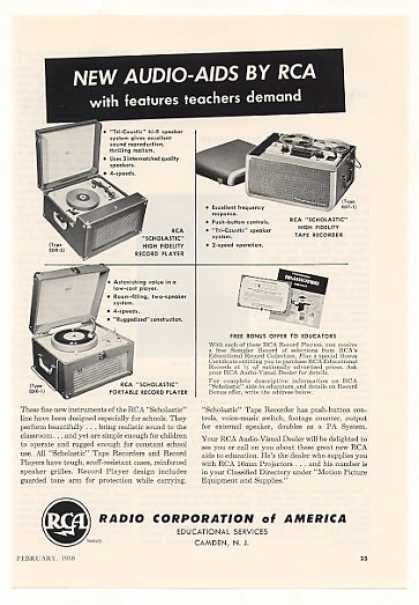 RCA Scholastic Record Players Tape Recorder (1958)