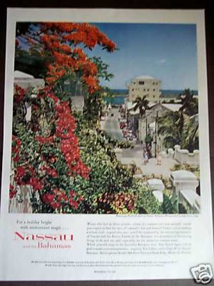Nasseu Bahamas Travel Promo Vacation Photo (1960)