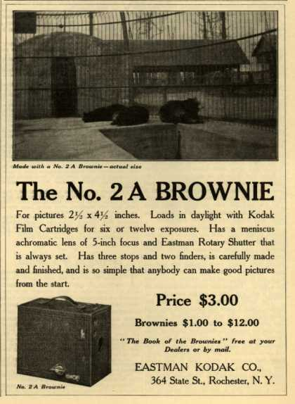Kodak&#8217;s Brownie camera, No. 2A &#8211; The No. 2A Brownie (1908)