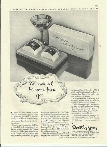 Dorothy Gray Cocktail for Your Face (1935)
