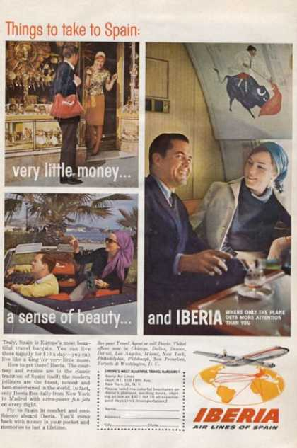 Iberia Airlines Spain Bull Fight (1965)