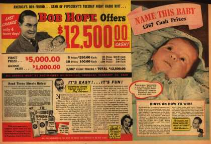 Pepsodent Company's Pepsodent Dental Supplies – Bob Hope Offers $12,500 (1940)