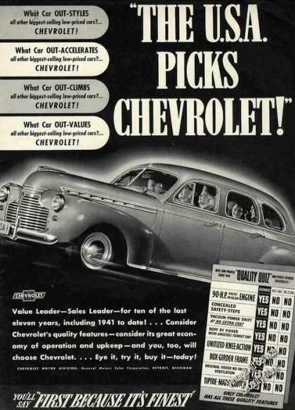 "Chevrolet ""The U.s.a. Picks Chevrolet!"" (1941)"