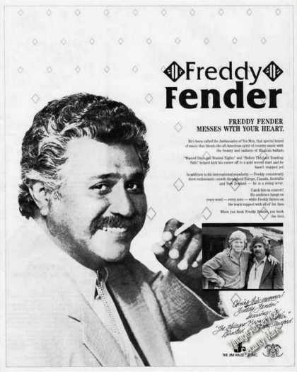 Freddy Fender Tex-mex Booking Ad Music (1987)