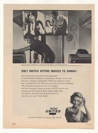 United Airlines Movies Hawaii Stewardess Photo (1965)