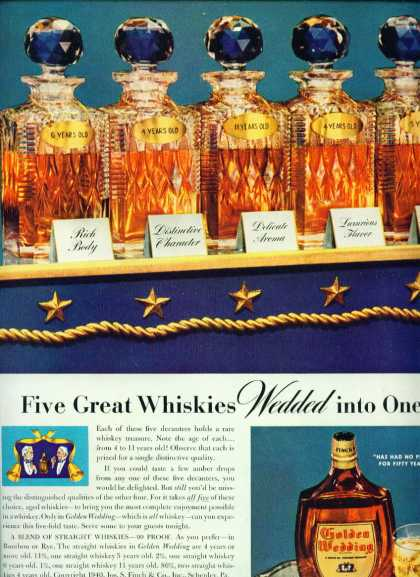 Golden Wedding Blended Whiskey (1950)