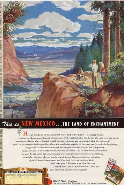 Willard Andrews New Mexico Travel T (1949)