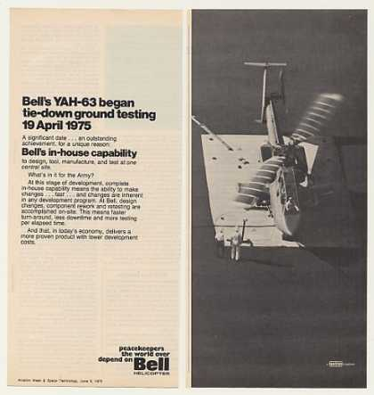 Bell YAH-63 Helicopter 2-Page Photo (1975)