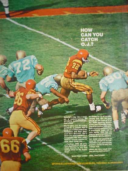 Sports Illustrated How can you catch O.J. OJ Simpson (1969)