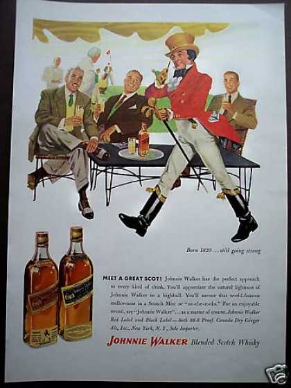 Great Scot Johnnie Walker Scotch Art (1953)