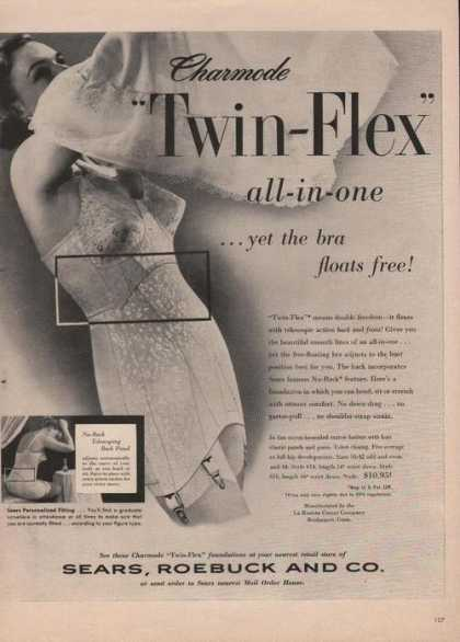 Sears Roebuck Twin Flex Womens Bra Print A (1951)