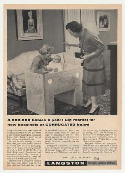 Langston Corrugated Board Bassinet Photo (1955)
