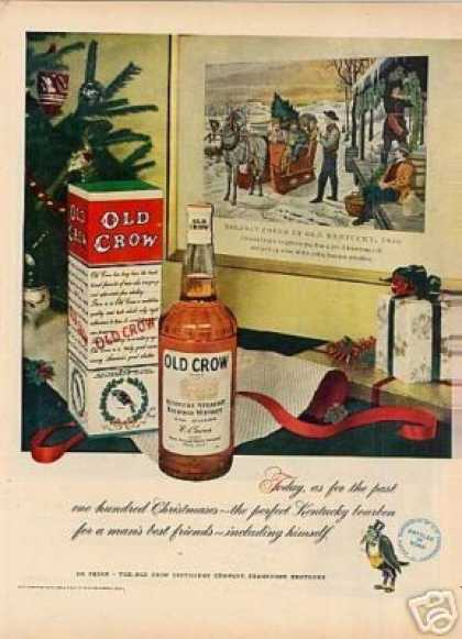 Old Crow Bourbon Whiskey (1951)