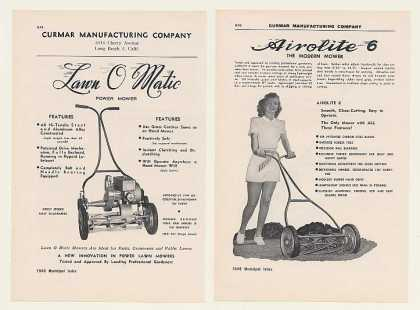 Curmar Lawn O Matic Airolite 6 Mowers 4-Page (1948)