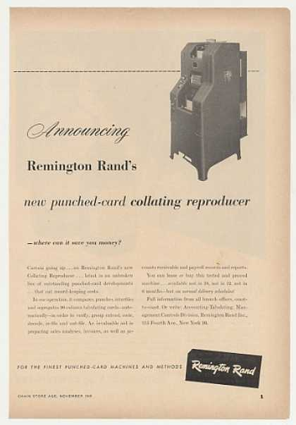 '49 Remington Rand Punched-Card Collating Reproducer (1949)