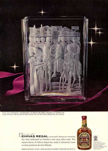 Chivas Regal Whisky Palmquist Ad Robert the Bruce (1960)