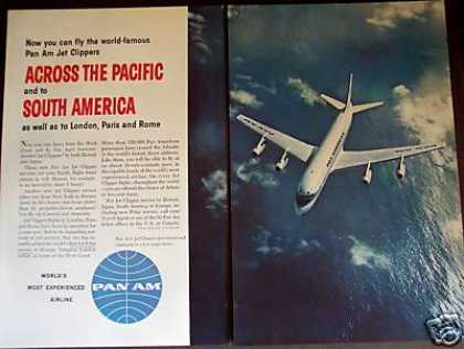 Pan Am Airline Jet Clipper To South America (1959)