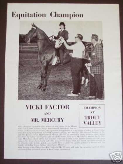 65 Equestrian Champion Vicki Factor Mr Mercury Photo