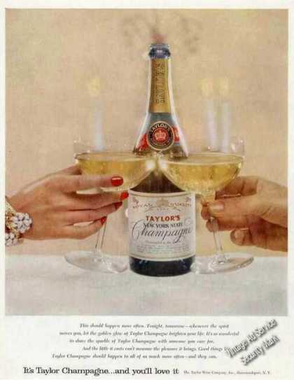 Taylor's New York State Champagne Wine (1957)