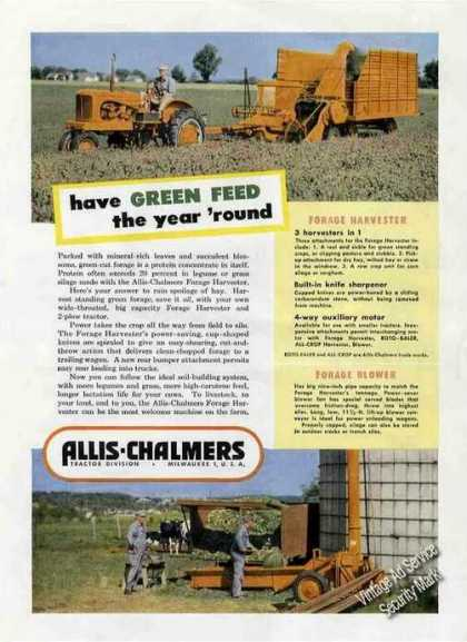 Allis-chalmers Farm Tractor & Forage Harvester (1951)