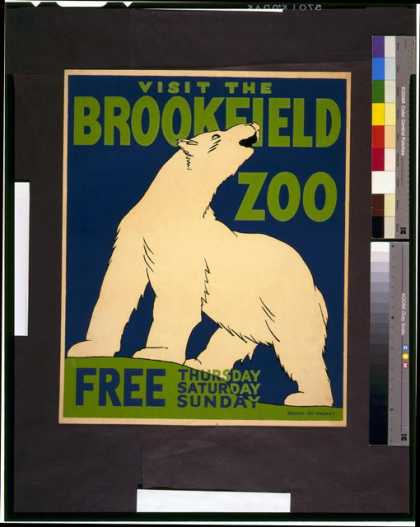 Visit the Brookfield Zoo free Thursday, Saturday, Sunday. (1936)