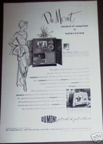 Dumont Colony-116 Tv Record Player Radio (1949)