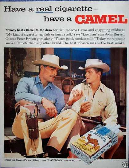 Camel Cigarette John Russell Peter Brown Lawman (1959)