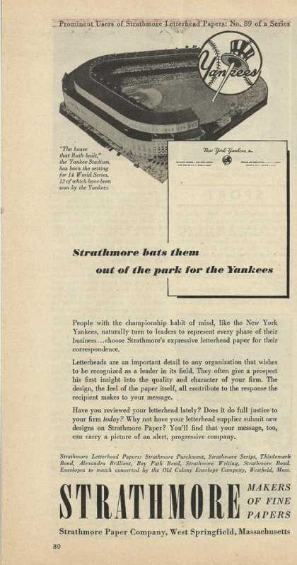 Strathmore Bats Them Out of Park for Yanke (1950)