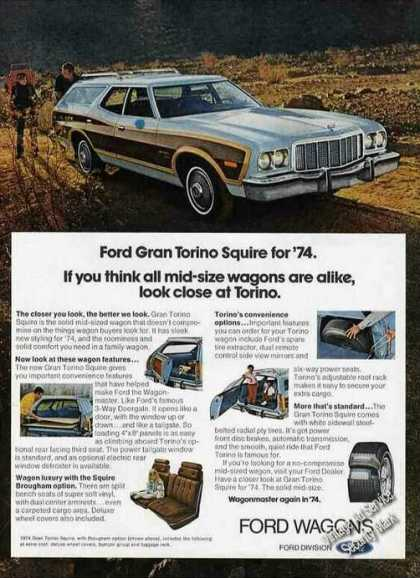Blue Ford Gran Torino Squire Wagon Photos (1974)