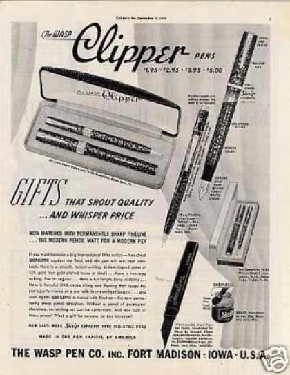 Wasp Clipper Pens (1939)