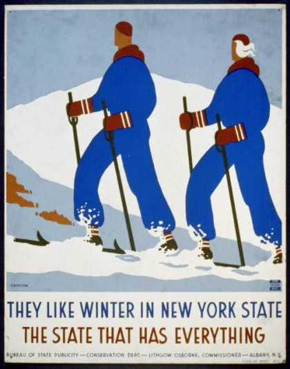 They like winter in New York State – The state that has everything / J. Rivolta. (1936)