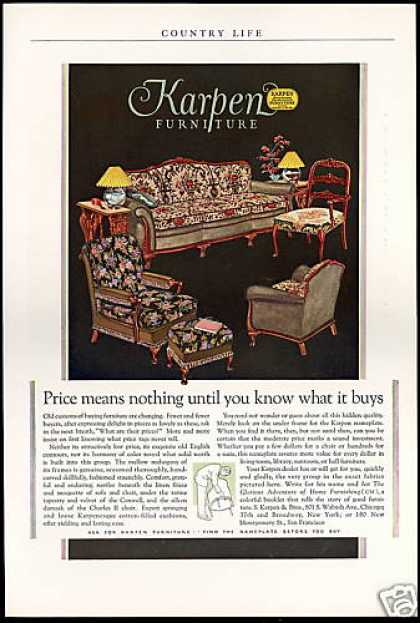 Karpen & Bros Furniture Nameplate Quality (1927)