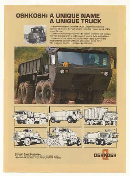 US Army Oshkosh Military Truck Photo (1986)