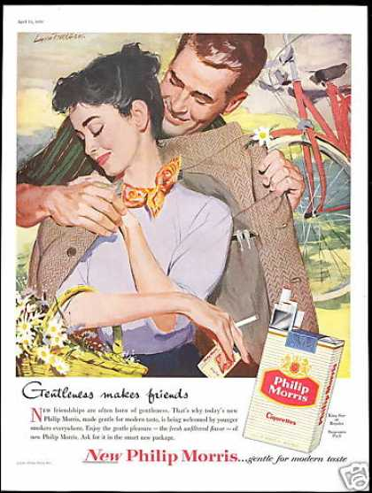 Pretty Woman Bicycle Philip Morris Cigarettes (1956)