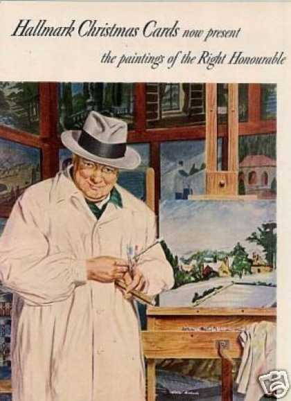 Hallmark Christmas Cards Ad Winston Churchill (1950)