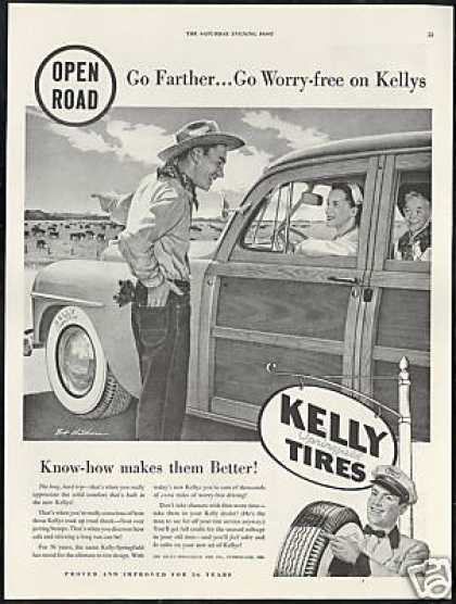 Kelly Tires Woody Wagon Bob Childress Art (1950)
