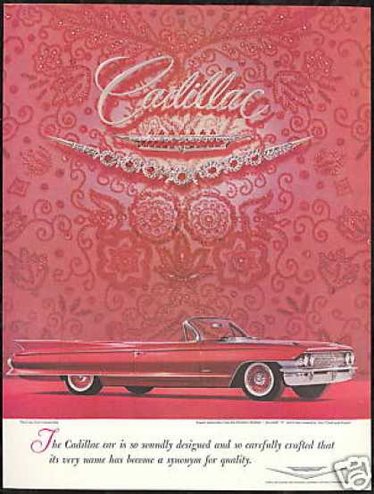 Sixty Two Cadillac Convertible Photo Vintage (1961)