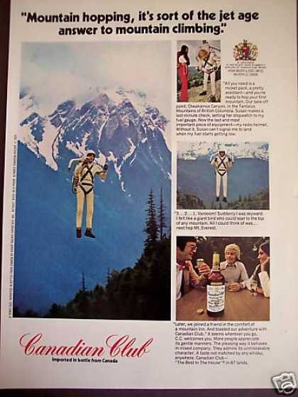 Rocket Man Mountain Hopping Photo Canadian Club (1972)