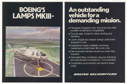US Navy Boeing LAMPS MKIII Helicopter (1977)