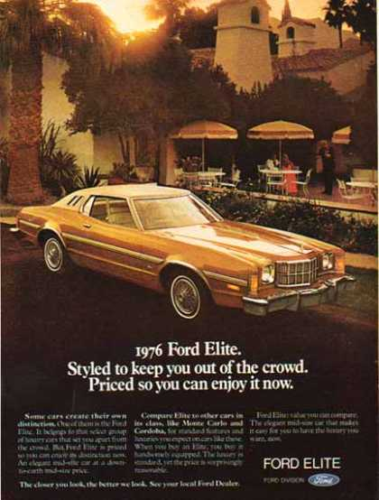 Ford Car – Ford Elite / Gold with white roof (1976)