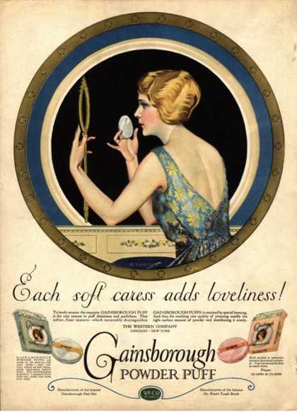 Pampering Make-Up Makeup Gainsborough Face Powder, USA (1910)