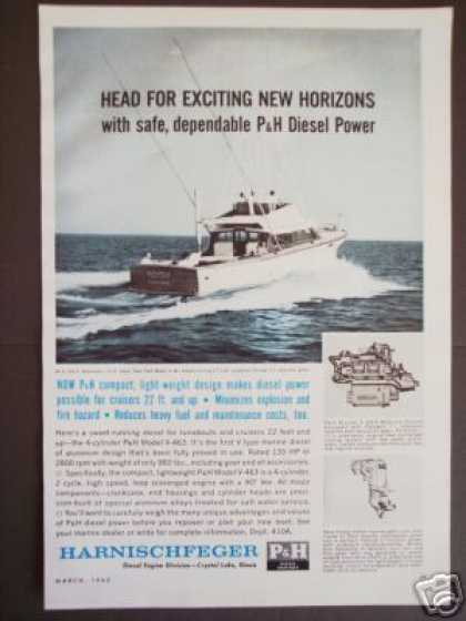 P&h Marine Diesel Boat Engines 4cyl V-463 (1962)
