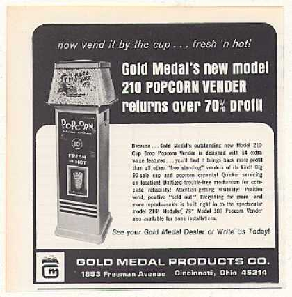 Gold Medal Products Model 210 Popcorn Vender (1968)