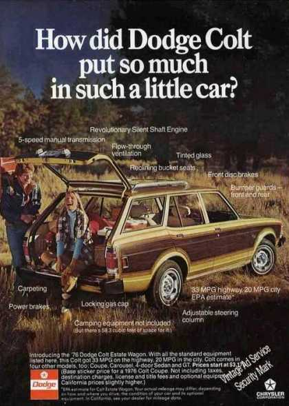 How Did Dodge Colt Put So Much In a Little Car (1976)